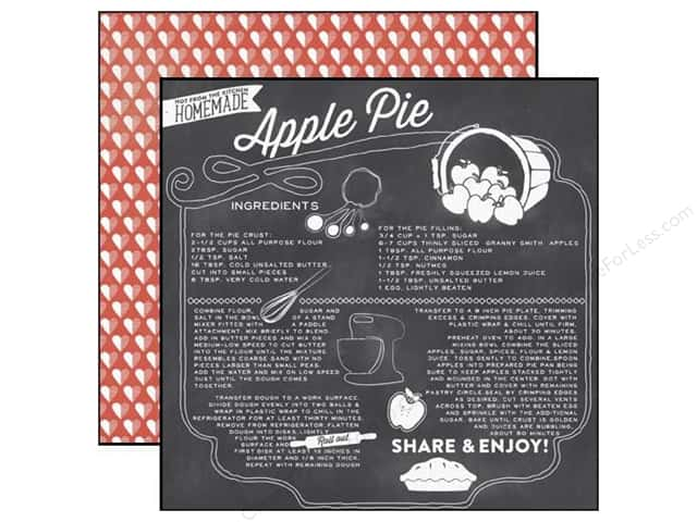 Echo Park 12 x 12 in. Paper Made From Scratch Collection Apple Pie (25 sheets)