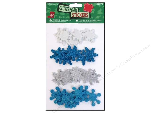 Sierra Pacific Crafts Decor Stickers Assorted Snowflakes