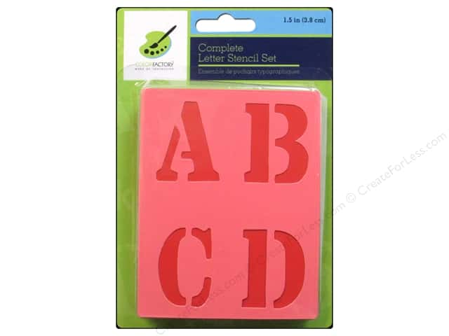 Craft Decor Stencil Set 1 1/2 in. Letters
