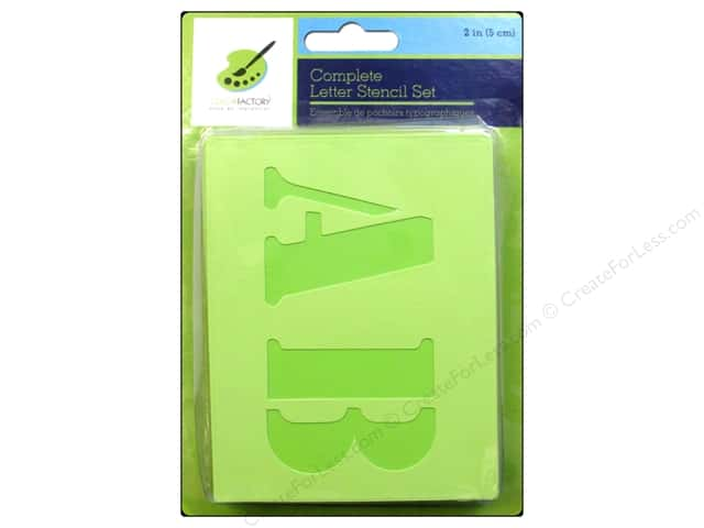 Craft Decor Stencil Set 2 in. Letters