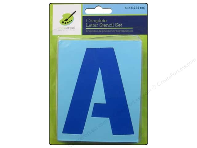Craft Decor Stencil Set 4 in. Letters