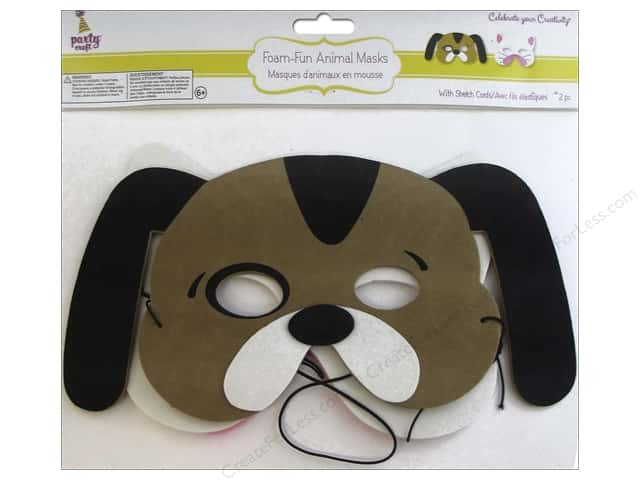 Multicraft Party Foam-Fun Animal Mask Assorted Pet Pals