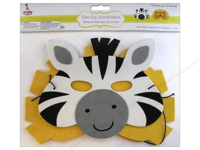 Multicraft Party Foam-Fun Animal Mask Assorted Safari Fun