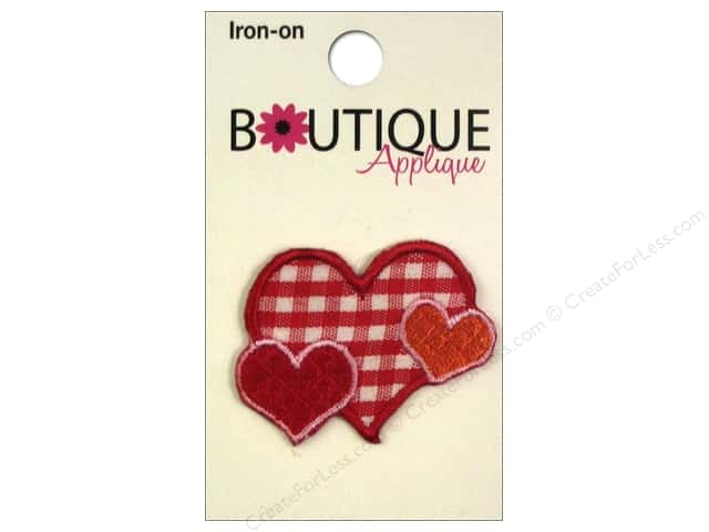 Blumenthal Boutique Applique Plaid Hearts
