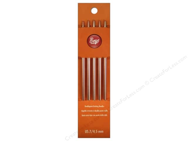 Boye Double Point Knitting Needles Aluminum 7 in. Size 7 (4.5 mm)