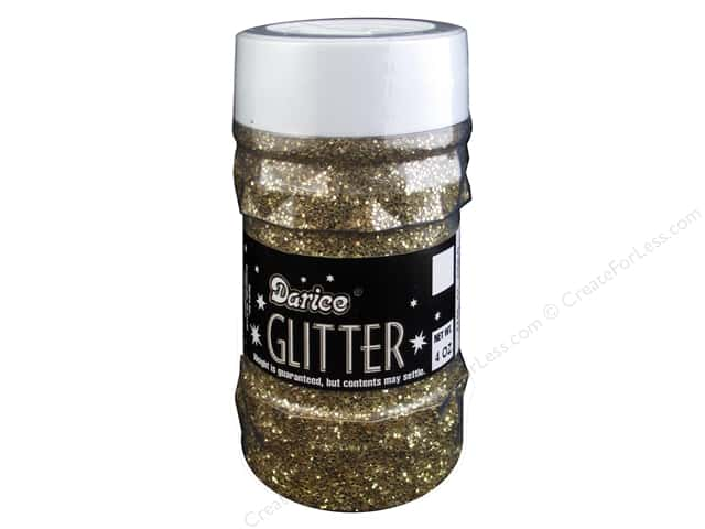 Darice Glitter Jar 4 oz. Gold