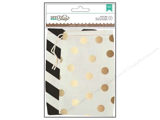 American Crafts DIY Shop 2 Printed Muslin Bags 2 pc.