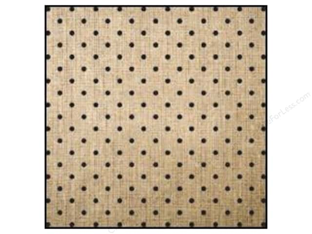 American Crafts DIY Shop 2 Burlap Sheets 12 x 12 in. Black Polka Dot (12 sheets)