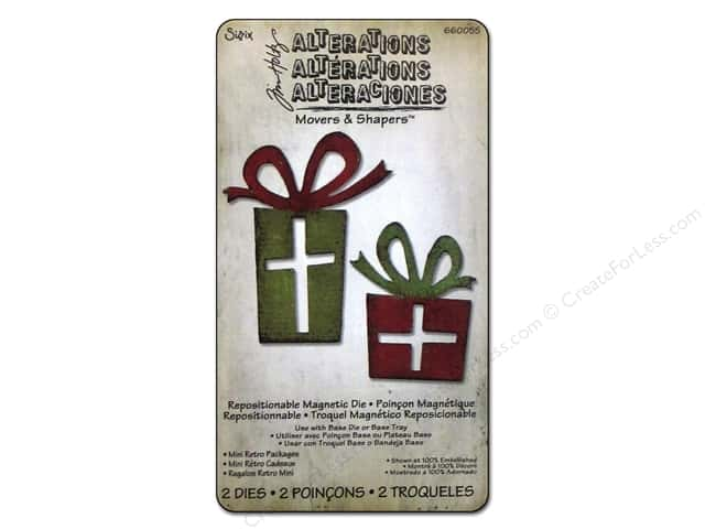 Sizzix Movers & Shapers Magnetic Dies Mini Retro Packages by Tim Holtz