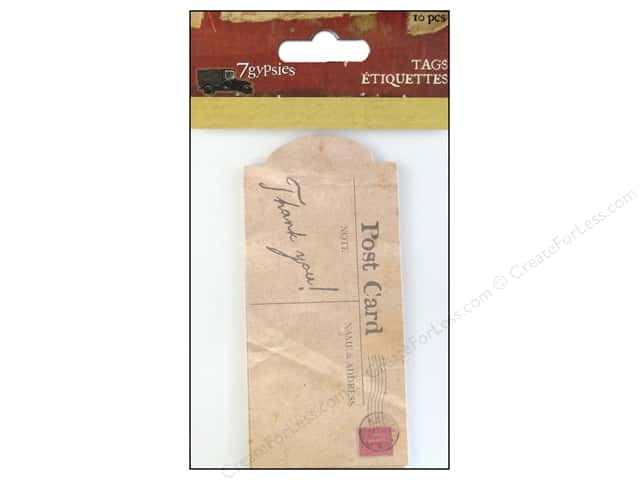 7 Gypsies Tags 10 pc. Gypsy Moments Thank You