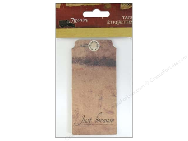 7 Gypsies Tags 10 pc. Gypsy Moments Just Because