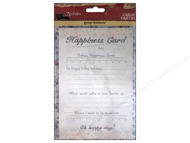 7 Gypsies 4 x 6 in. Cards 10 pc. Gypsy Moments Happiness