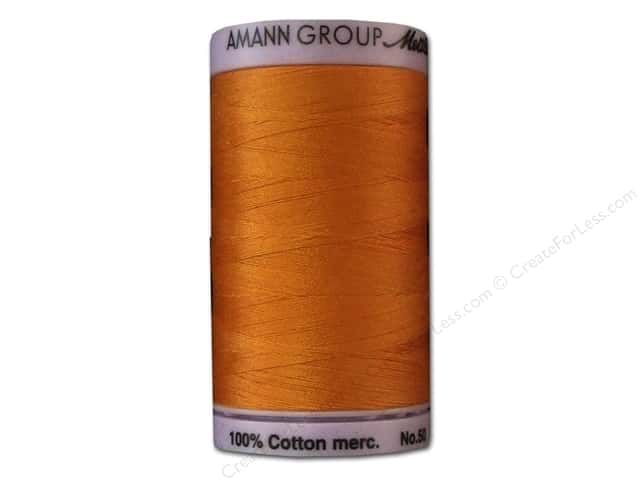 Mettler Silk Finish Cotton Thread 50 wt. 547 yd. #0122 Pumpkin