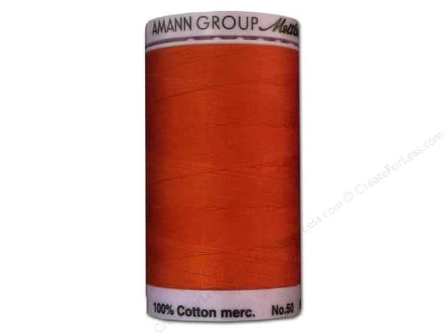 Mettler Silk Finish Cotton Thread 50 wt. 547 yd. #0450 Paprika