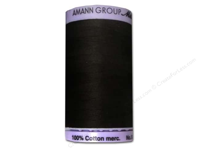 Mettler Silk Finish Cotton Thread 50 wt. 547 yd. #1002 Very Dark Brown