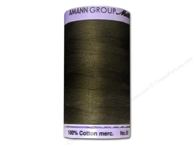 Mettler Silk Finish Cotton Thread 50 wt. 547 yd. #1043 Olive