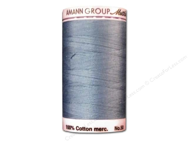 Mettler Silk Finish Cotton Thread 50 wt. 547 yd. #0351 Smokey Blue