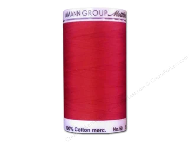 Mettler Silk Finish Cotton Thread 50 wt. 547 yd. #0504 Country Red