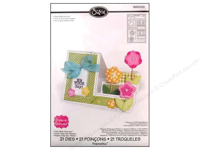 Sizzix Framelits Die Set 21 pc. Basic Step-Ups Card