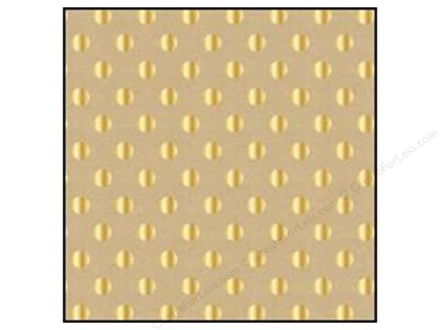 American Crafts 12 x 12 in. Cardstock DIY Shop 2 Gold Foil Dots on Kraft (15 sheets)