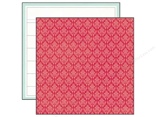 Echo Park 12 x 12 in. Paper Through The Year Collection Red Damask (25 sheets)
