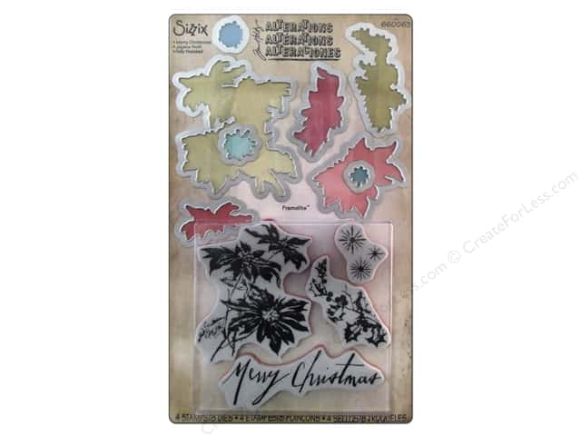 Sizzix Framelits Die/Stamp Merry Christmas by Tim Holtz