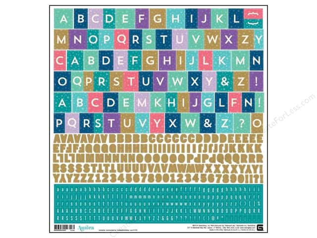 BasicGrey Alphabet Stickers Aurora (12 sets)