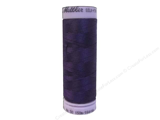 Mettler Silk Finish Cotton Thread 50 wt. 164 yd. #0046 Deep Purple