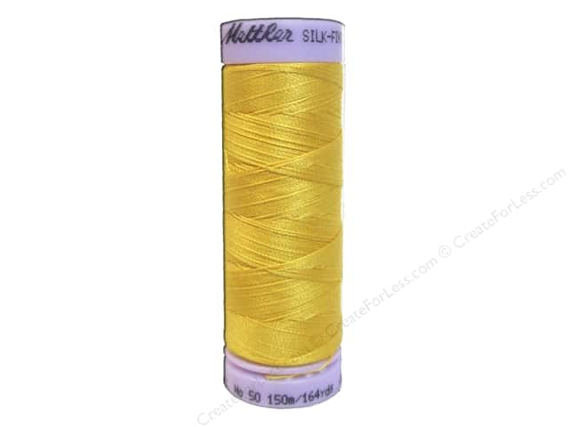 Mettler Silk Finish Cotton Thread 50 wt. 164 yd. #0120 Summersun