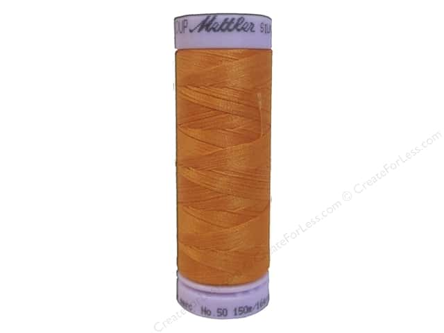 Mettler Silk Finish Cotton Thread 50 wt. 164 yd. #0122 Pumpkin