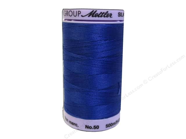 Mettler Silk Finish Cotton Thread 50 wt. 547 yd. #0790 Royal Blue