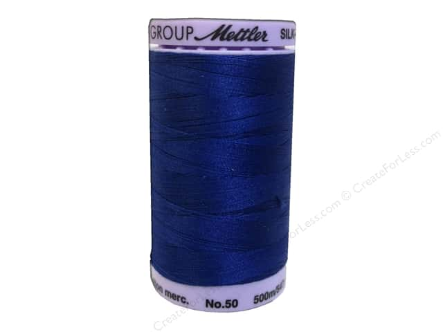 Mettler Silk Finish Cotton Thread 50 wt. 547 yd. #0675 Imperial Blue