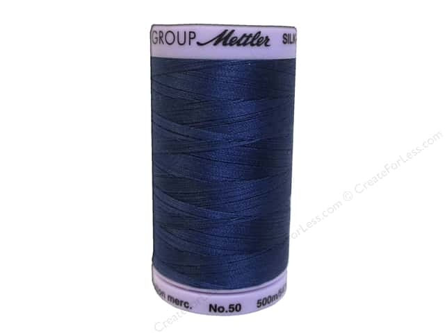 Mettler Silk Finish Cotton Thread 50 wt. 547 yd. #1365 True Navy