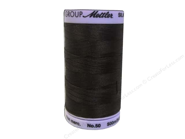Mettler Silk Finish Cotton Thread 50 wt. 547 yd. #0758 Black Peppercorn
