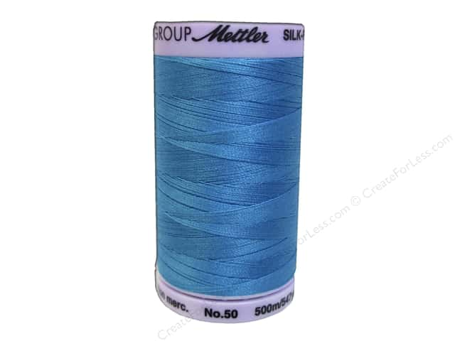 Mettler Silk Finish Cotton Thread 50 wt. 547 yd. #0814 Caribbean Blue