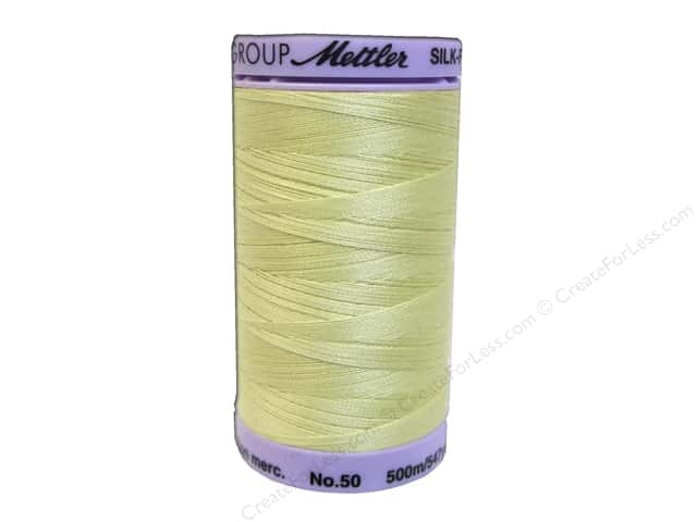 Mettler Silk Finish Cotton Thread 50 wt. 547 yd. #0502 Lemon Frost