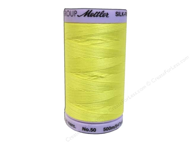 Mettler Silk Finish Cotton Thread 50 wt. 547 yd. #0501 Lemon Zest