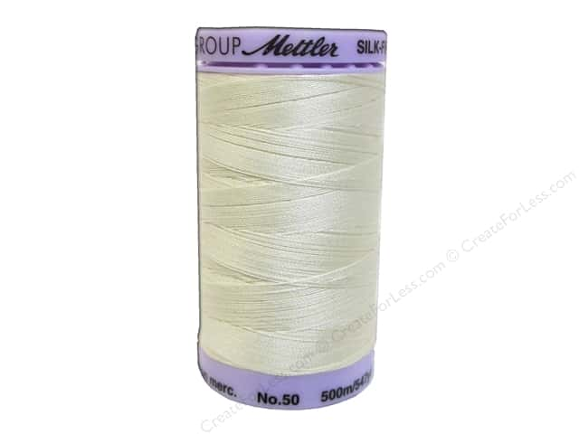 Mettler Silk Finish Cotton Thread 50 wt. 547 yd. #0703 Antique White