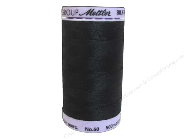 Mettler Silk Finish Cotton Thread 50 wt. 547 yd. #0003 Black