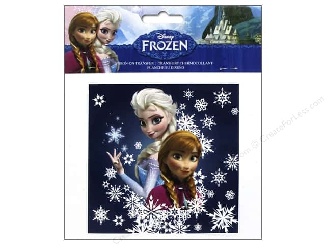 Simplicity Iron On Transfer Disney Frozen Sisters