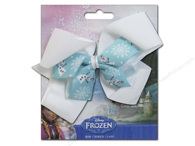Simplicity Hair Bow Grosgrain Disney Frozen Olaf