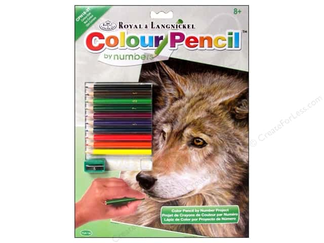Royal Color Pencil by Number Curious Eyes