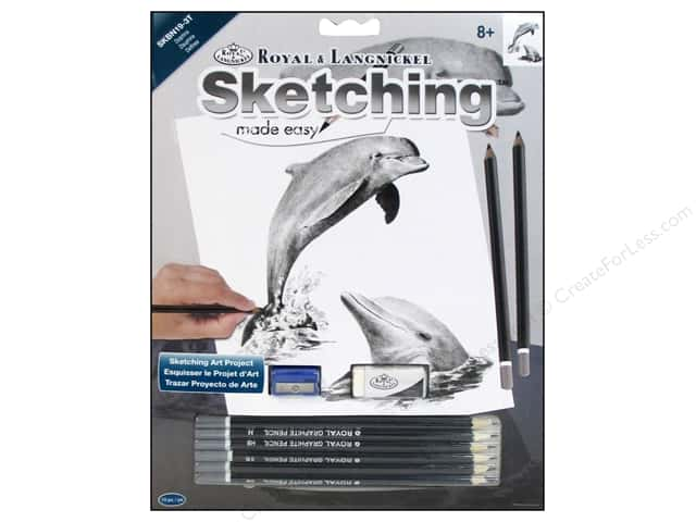Royal Sketching Made Easy Dolphins