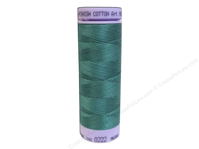 Mettler Silk Finish Cotton Thread 50 wt. 164 yd. #0222 Green
