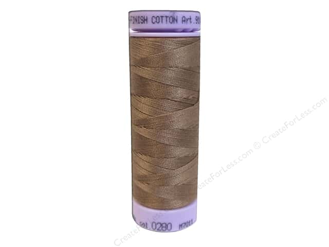 Mettler Silk Finish Cotton Thread 50 wt. 164 yd. #0280 Walnut