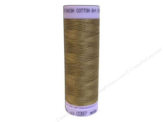 Mettler Silk Finish Cotton Thread 50 wt. 164 yd. #0287 Dark Tan
