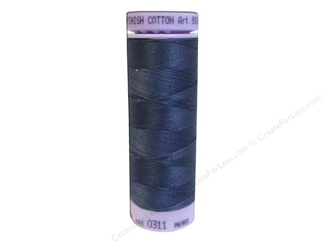 Mettler Silk Finish Cotton Thread 50 wt. 164 yd. #0311 Blue Shadow