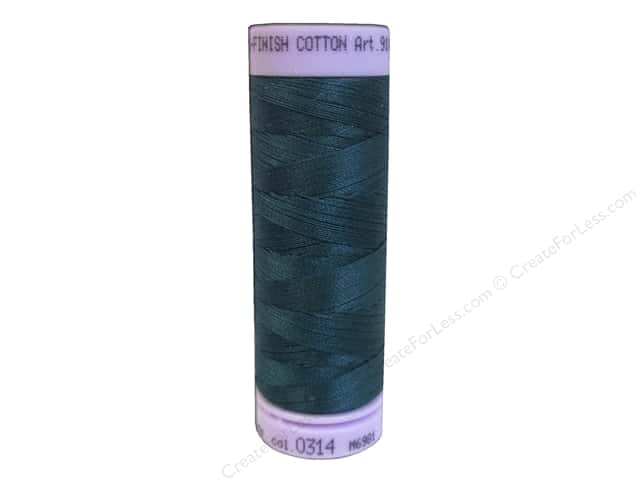 Mettler Silk Finish Cotton Thread 50 wt. 164 yd. #0314 Spruce