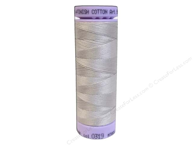 Mettler Silk Finish Cotton Thread 50 wt. 164 yd. #0319 Cloud Gray