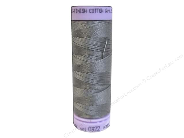 Mettler Silk Finish Cotton Thread 50 wt. 164 yd. #0322 Rain Cloud